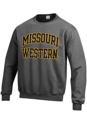 Champion Missouri Western Griffons Mens Charcoal Arch Long Sleeve Crew Sweatshirt