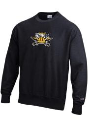 Champion Northern Kentucky Norse Mens Black Reverse Weave Long Sleeve Crew Sweatshirt