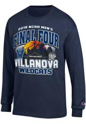 Champion Villanova Wildcats Navy Blue Desert Ball Long Sleeve T Shirt