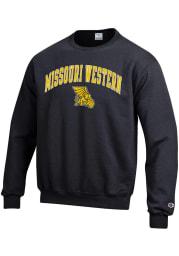 Champion Missouri Western Griffons Mens Black Arch Mascot Long Sleeve Crew Sweatshirt