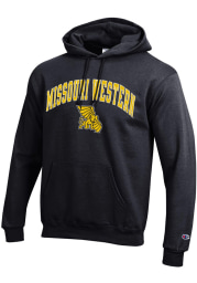 Champion Missouri Western Griffons Mens Black Arch Mascot Long Sleeve Hoodie