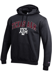 Champion Texas A&M Aggies Mens Black Arch Mascot Long Sleeve Hoodie