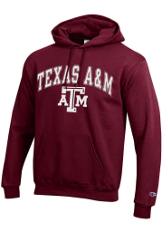 Champion Texas A&M Aggies Mens Maroon Arch Mascot Long Sleeve Hoodie