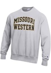 Champion Missouri Western Griffons Mens Grey Reverse Weave Long Sleeve Crew Sweatshirt