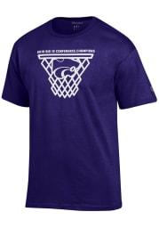 Champion K-State Wildcats Purple 2019 Big 12 Champions Short Sleeve T Shirt