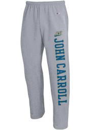 Champion John Carroll Blue Streaks Mens Grey Open Bottom Sweatpants
