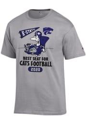 Champion K-State Wildcats Grey Best Seat Short Sleeve T Shirt