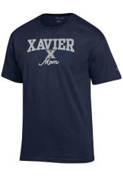 Champion Xavier Musketeers Womens Navy Blue Mom Short Sleeve T-Shirt