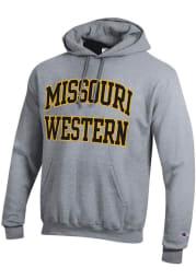 Champion Missouri Western Griffons Mens Grey Twill Powerblend Long Sleeve Hoodie