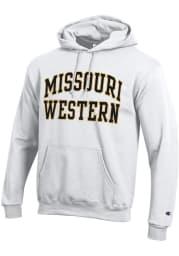 Champion Missouri Western Griffons Mens White Arch Powerblend Long Sleeve Hoodie