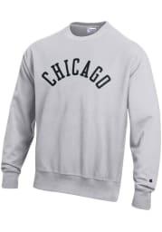 Champion Chicago Mens Grey Arched Long Sleeve Crew Sweatshirt