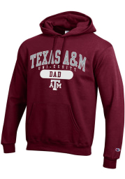 Champion Texas A&M Aggies Mens Maroon Dad Pill Long Sleeve Hoodie