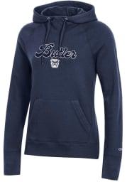 Champion Butler Bulldogs Womens Navy Blue University 2.0 Hooded Sweatshirt