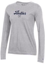 Champion Butler Bulldogs Womens Grey University 2.0 LS Tee