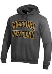 Champion Missouri Western Griffons Mens Charcoal Arch Twill Long Sleeve Hoodie