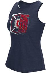 Adidas Chicago Fire Womens Navy Blue Logo Split Tank Top