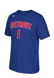 Reggie Jackson Detroit Pistons Blue 7-Series Short Sleeve Player T Shirt