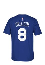 Jahlil Okafor Philadelphia 76ers Blue 7-Series Short Sleeve Player T Shirt