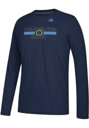 Adidas Philadelphia Union Navy Blue 1949 Long Sleeve T-Shirt