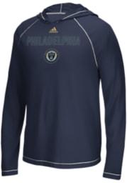 Adidas Philadelphia Union Navy Blue Base Long Sleeve T-Shirt