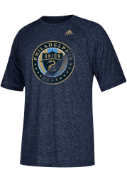 Adidas Philadelphia Union Navy Blue Striker Short Sleeve T Shirt