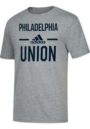 Adidas Philadelphia Union Grey Simply Put Short Sleeve Fashion T Shirt