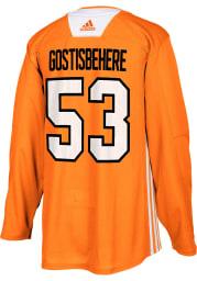 Adidas Shayne Gostisbehere Philadelphia Flyers Mens Orange Practice Hockey Jersey