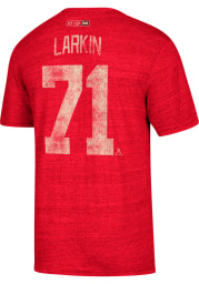 Dylan Larkin Detroit Red Wings Red Name and Number Short Sleeve Fashion Player T Shirt