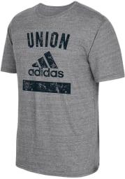 Adidas Philadelphia Union Grey Equipment Short Sleeve Fashion T Shirt