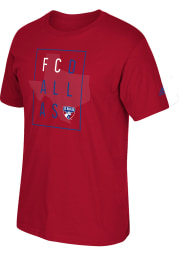 Adidas FC Dallas Red Framed Short Sleeve Fashion T Shirt