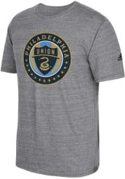 Adidas Philadelphia Union Grey Vintage Too Short Sleeve Fashion T Shirt