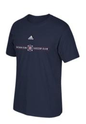 Adidas Chicago Fire Navy Blue Wordmark Short Sleeve T Shirt