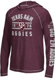 Adidas Texas A&M Aggies Mens Maroon Schooled Sleeve Hood