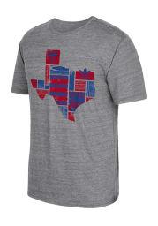 Adidas FC Dallas Grey screen print Short Sleeve Fashion T Shirt