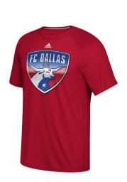 Adidas FC Dallas Red screen print Short Sleeve T Shirt