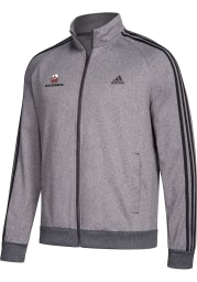 Adidas Nebraska Cornhuskers Mens Grey 3 Stripe Track Jacket