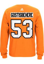 Shayne Gostisbehere Philadelphia Flyers Orange Play Long Sleeve Player T Shirt