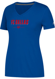 Adidas FC Dallas Womens Blue Lined Up Too T-Shirt