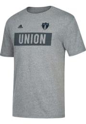 Adidas Philadelphia Union Grey Bar None Short Sleeve T Shirt