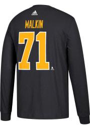 Evgeni Malkin Pittsburgh Penguins Black Play Long Sleeve Player T Shirt