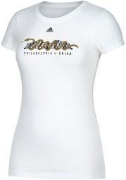 Adidas Philadelphia Union Womens White Bridge Short Sleeve Crew T-Shirt