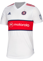 Chicago Fire Mens Adidas Authentic Soccer 2019 Secondary Jersey - White