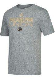 Adidas Philadelphia Union Grey Locker Stacked Short Sleeve Fashion T Shirt