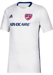 FC Dallas Mens Adidas Replica Soccer 2019 Secondary Jersey - White