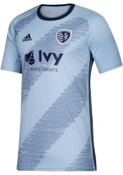 Sporting Kansas City Mens Adidas Replica Soccer 2019 Primary Jersey - Navy Blue