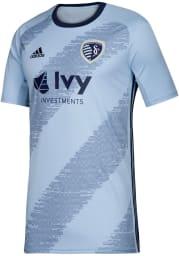Adidas Sporting Kansas City Youth Light Blue 2019 Primary Soccer Jersey