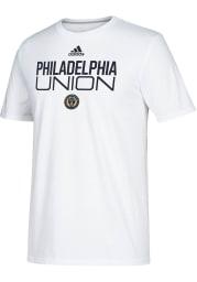 Adidas Philadelphia Union White Locker Stacked Short Sleeve T Shirt