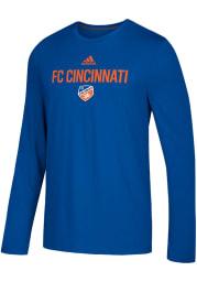 Adidas FC Cincinnati Blue Locker Stacked Long Sleeve T-Shirt