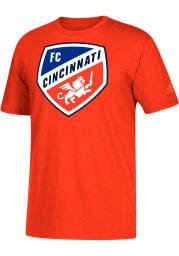 Adidas FC Cincinnati Orange Squad Primary Short Sleeve T Shirt