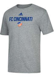 Adidas FC Cincinnati Grey Locker Stacked Short Sleeve Fashion T Shirt